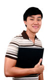 Junger asiatischer Kursteilnehmer. Stockfoto