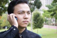 Junger asiatischer Unternehmer stockbild