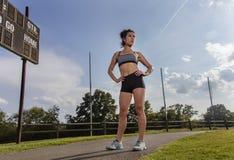 Junger Athletenbetrieb Stockfoto