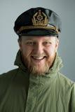 Junger bärtiger Seemann Lizenzfreie Stockbilder