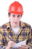Junger Bauarbeiter Lizenzfreie Stockfotos