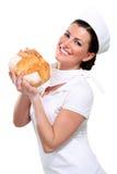 Junger beautyful Frauenbäcker Lizenzfreies Stockfoto