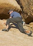Junger Bergsteiger Stockbilder