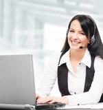 Junger, überzeugter und schöner Kundenbetreuungsbetreiber Lizenzfreie Stockfotos