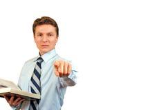 Junger beschuldigender Rechtsanwalt Lizenzfreie Stockbilder