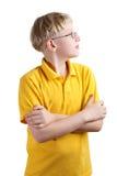 Junger blonder Junge Lizenzfreies Stockfoto