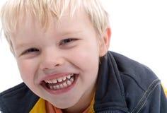 Junger blonder Junge Headshot Stockfotografie