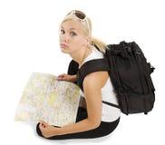 Junger blonder Tourist Lizenzfreie Stockbilder