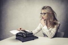 Junger Verfasser Lizenzfreie Stockfotos