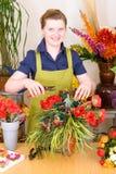 Junger Blumenhändler Lizenzfreies Stockfoto