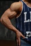 Junger Bodybuilder Stockfoto