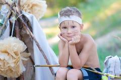 Junger Bogenschütze Stockfoto