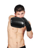 Junger Boxerkämpfer Lizenzfreie Stockfotografie