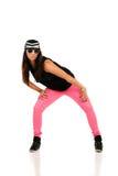 Junger Brunettehip-hop-Tänzer Stockbilder