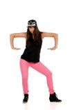 Junger Brunettehip-hop-Tänzer Lizenzfreie Stockbilder