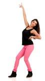 Junger Brunettehip-hop-Tänzer Stockfotos