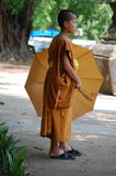 Junger buddhistischer Mönch Lizenzfreies Stockbild