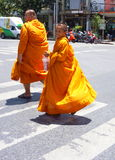 Junger buddhistischer Mönch Bangkok Stockfoto
