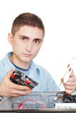 Junger Computertechniker Lizenzfreies Stockfoto
