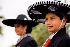 Junger Cowboy in der Parade
