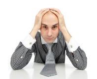 Junger deprimierter Geschäftsmann Lizenzfreies Stockfoto