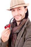 Junger Detektiv mit Rohr stockfoto