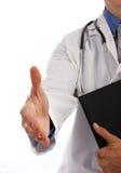 Junger Doktor Handshake Lizenzfreie Stockfotos