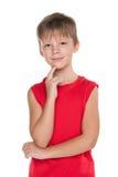 Junger durchdachter Junge Stockfotos