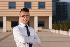 Junger ehrgeiziger Geschäftsmann Lizenzfreies Stockfoto