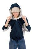 Junger Erwachsener, der beiläufige Kleidung trägt Lizenzfreies Stockbild