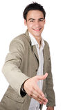 Junger Erwachsener rütteln Hände Lizenzfreie Stockbilder