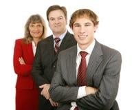 Junger führender Vertreter der Wirtschaft u. Team Lizenzfreie Stockfotos