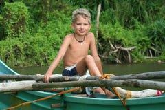 Junger Fischer stockbilder