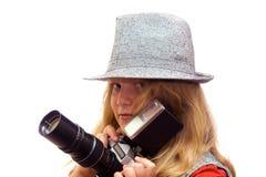Junger Fotograf Lizenzfreie Stockbilder