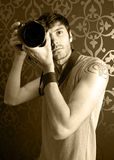 Junger Fotograf stockbild