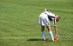 Junger Fußballspieler Stockfoto