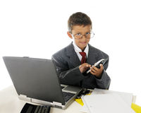 Junger Geschäfts-Aufruf Stockbild