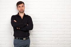Junger Geschäftsmann, der eine Darstellung macht Lizenzfreies Stockbild