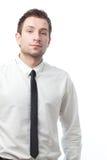 Junger Geschäftsmann getrennt auf Weiß stockbilder