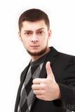 Junger Geschäftsmann mit dem Daumen oben Lizenzfreies Stockbild