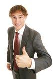 Junger GeschäftsmannThumbs-up Stockfotografie