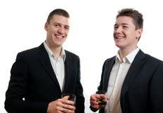 Junger Geschäftsmannwhisky Stockfotografie
