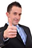 Junger glücklicher Geschäftsmann Lizenzfreie Stockfotos