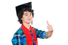 Junger glücklicher Kursteilnehmer Lizenzfreie Stockfotografie