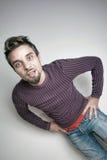 Junger glücklicher Mann Stockfotografie