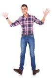 Junger glücklicher Mann Lizenzfreies Stockfoto
