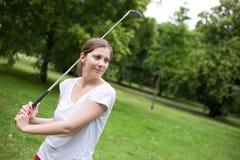 Junger Golfspieler Stockbilder