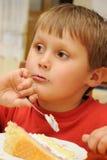 Junger Gourmand lizenzfreie stockbilder