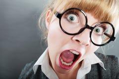 Junger hübscher Geschäftsfraufrau Headshot Stockbilder