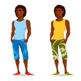Junger hübscher Kerl in der Sommerkleidung Stockfoto